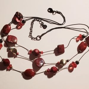"Ruby Rd 18"" Necklace 4-5"" drop."